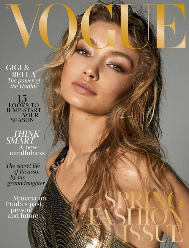 UK Vogue March 2018 : Gigi Hadid & Bella Hadid by Steven Meisel