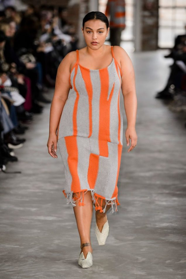 Paloma Elsesser at Eckhaus Latta.