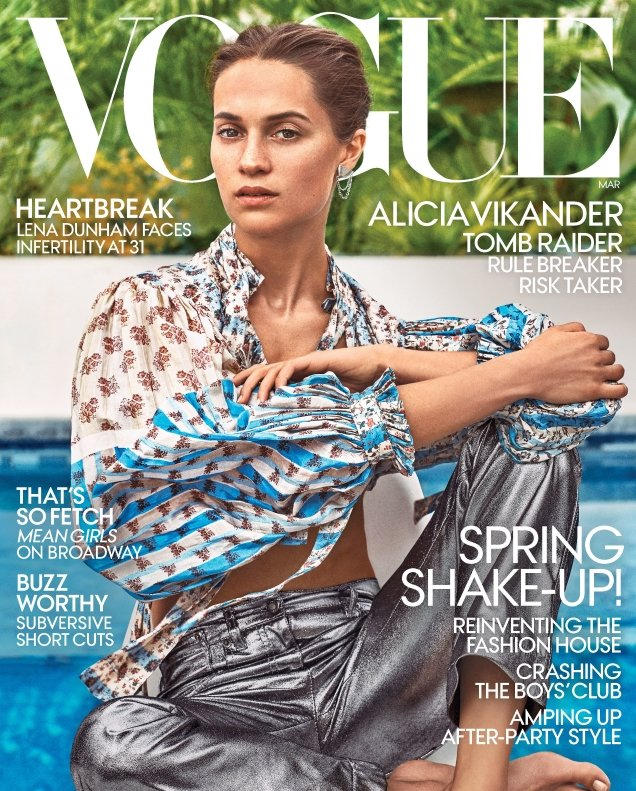 US Vogue March 2018 : Alicia Vikander by Steven Klein