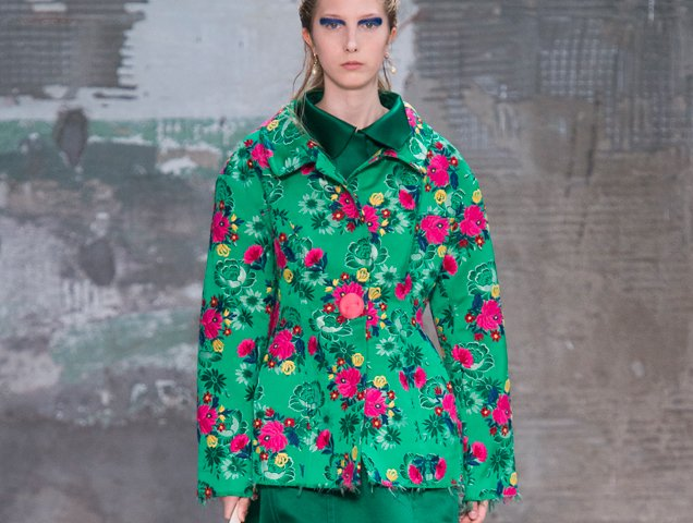 Retro florals at Marni Spring 2018