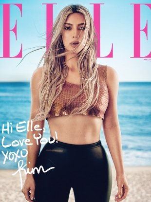 US Elle April 2018 : Kim Kardashian by Boo George