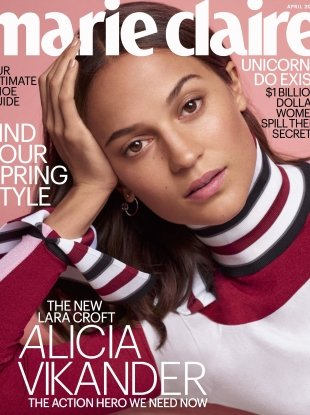 US Marie Claire April 2018 : Alicia Vikander by Thomas Whiteside