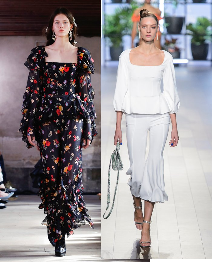 Square-neck tops at Rodarte and Cushnie et Ochs Spring 2018