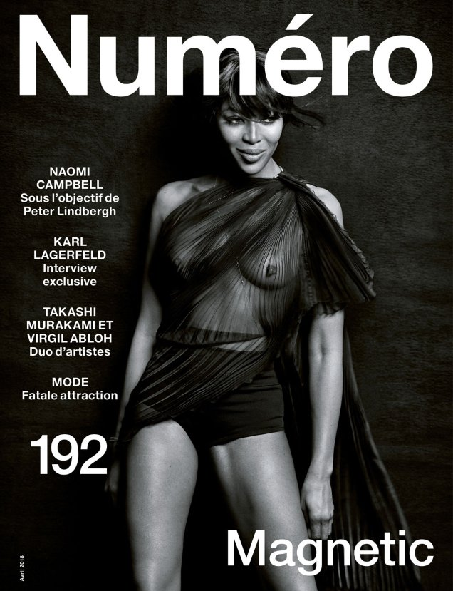 Numéro #192 April 2018 : Naomi Campbell by Peter Lindbergh