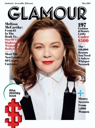 US Glamour May 2018 : Melissa McCarthy by Miguel Reveriego