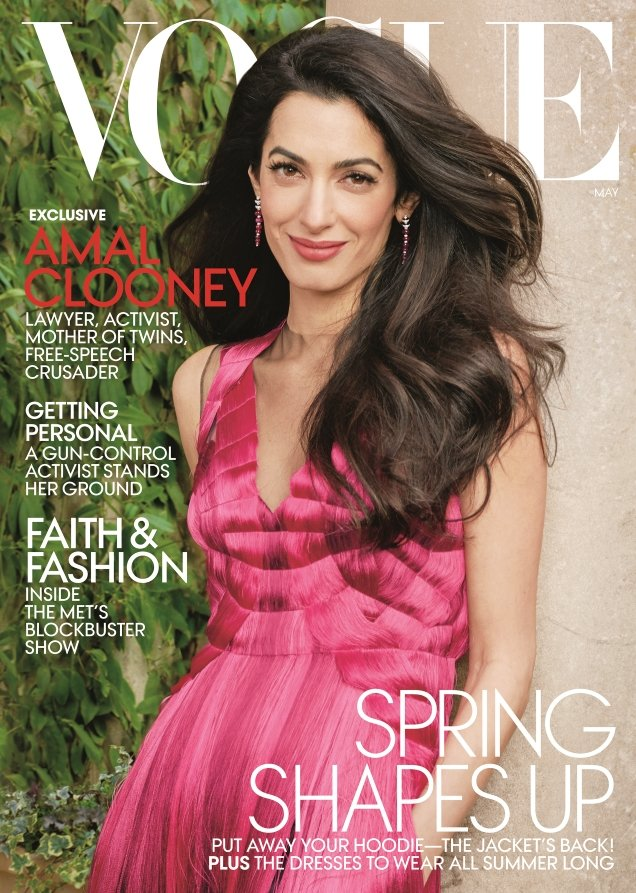 US Vogue May 2018 : Amal Clooney by Annie Leibovitz