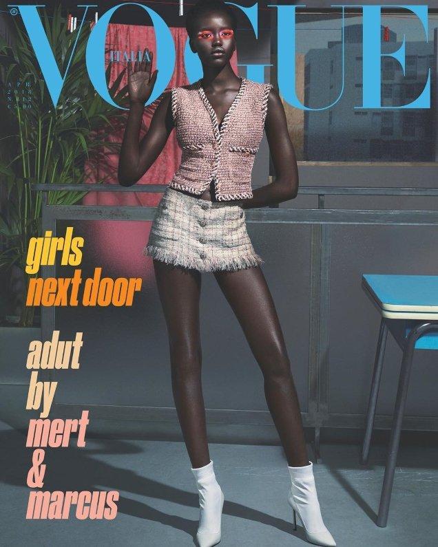 Vogue Italia April 2018 : Adut, Birgit & Amandine by Mert Alas & Marcus Piggott