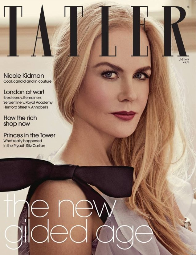 Tatler July 2018 : Nicole Kidman by Victor Demarchelier