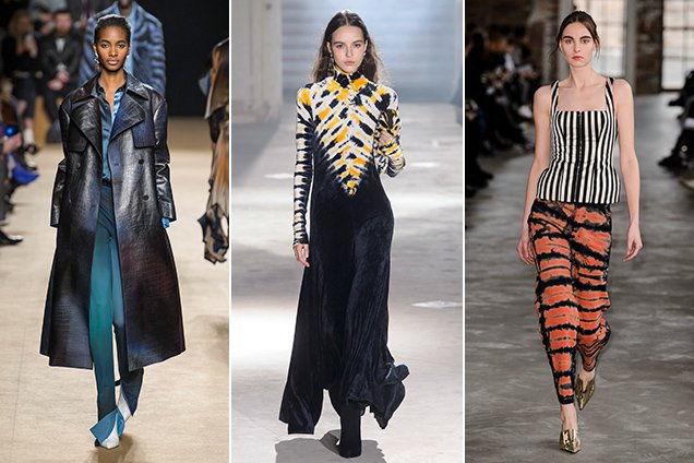 Tie-dye on the Fall 2018 runways.
