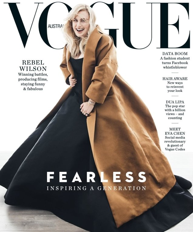 Vogue Australia June 2018 : Rebel Wilson by Nicole Bentley