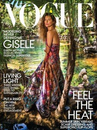 US Vogue July 2018 : Gisele Bündchen by Inez van Lamsweerde & Vinoodh Matadin