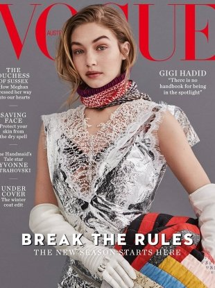 Vogue Australia July 2018: Gigi Hadid by Giampaolo Sgura