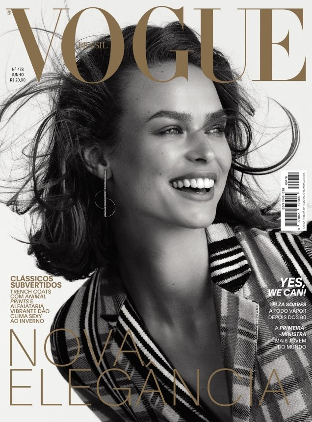 Vogue Brazil June 2018 : Birgit Kos by Mariana Maltoni