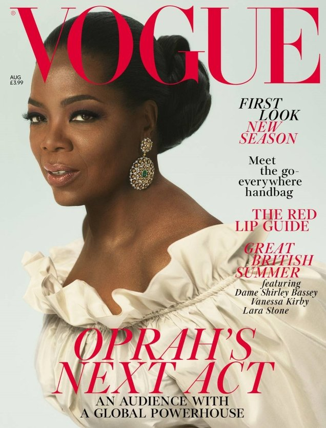 UK Vogue August 2018 : Oprah by Mert Alas & Marcus Piggott