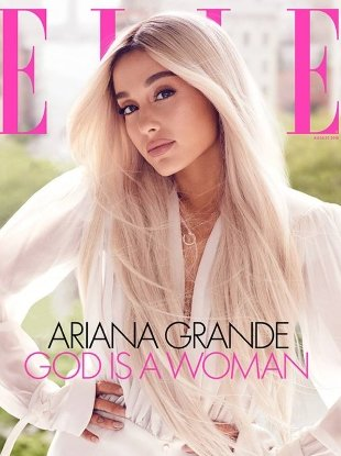 US Elle August 2018 : Ariana Grande by Alexi Lubomirski