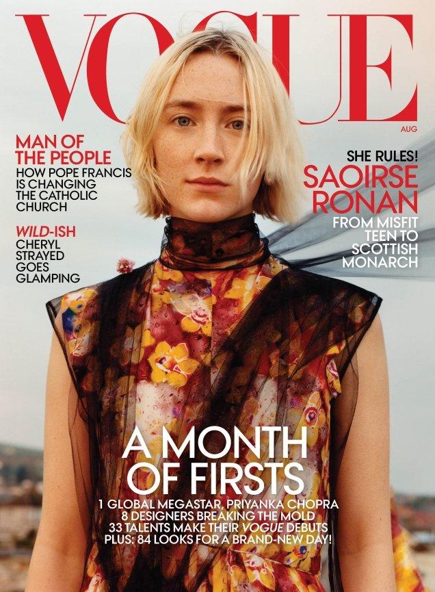 US Vogue August 2018 : Saoirse Ronan by Jamie Hawkesworth