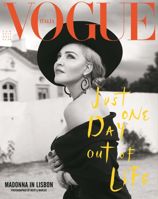 Vogue Italia August 2018 : Madonna by Mert Alas & Marcus Piggott