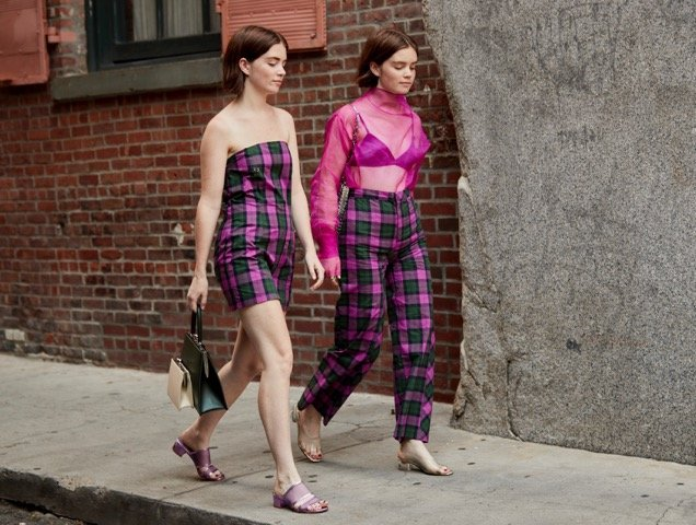 Double the plaid, double the fun.