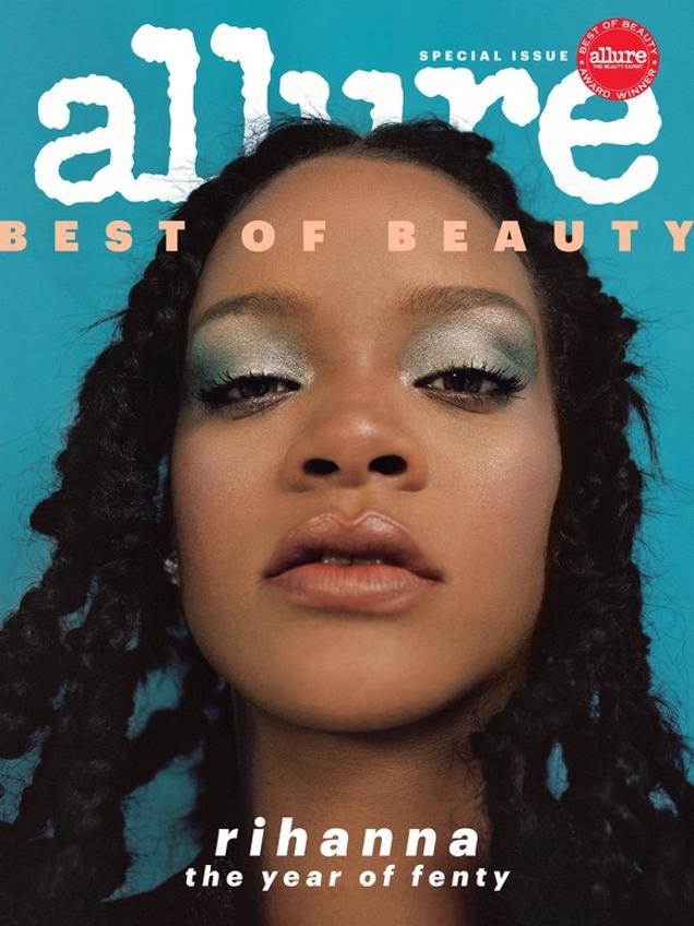 Allure October 2018 : Rihanna by Nadine Ijewere