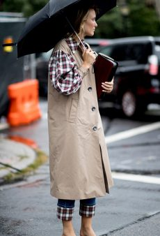 Here's What Street Style Looks Like When It Rains at Fashion Week