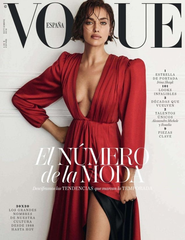 Vogue España September 2018 : Irina Shayk by Giampaolo Sgura