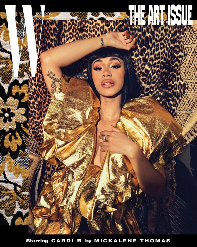 W Volume #7 'The Art Issue' : Cardi B by Mickalene Thomas