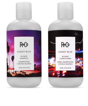 R+Co  10 Hair Tinting Products for a No-Risk, Temporary Color Boost r co sunset blvd shampoo and conditioner color depositing hair care