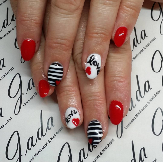 valentines day nail art ideas to fall in love with - Hot Designs Nail Art Ideas