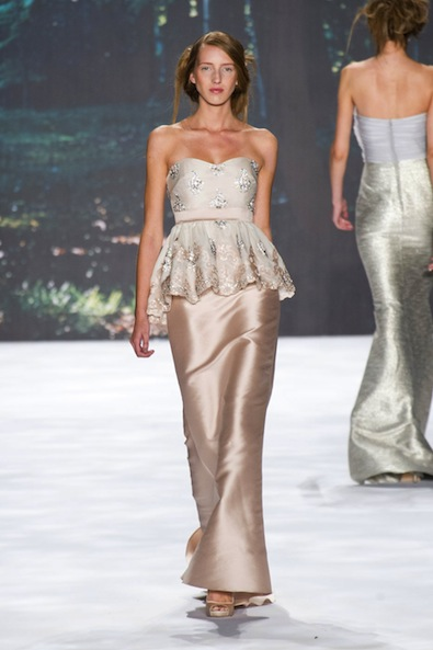 Badgley Mischka's Peplum Gowns