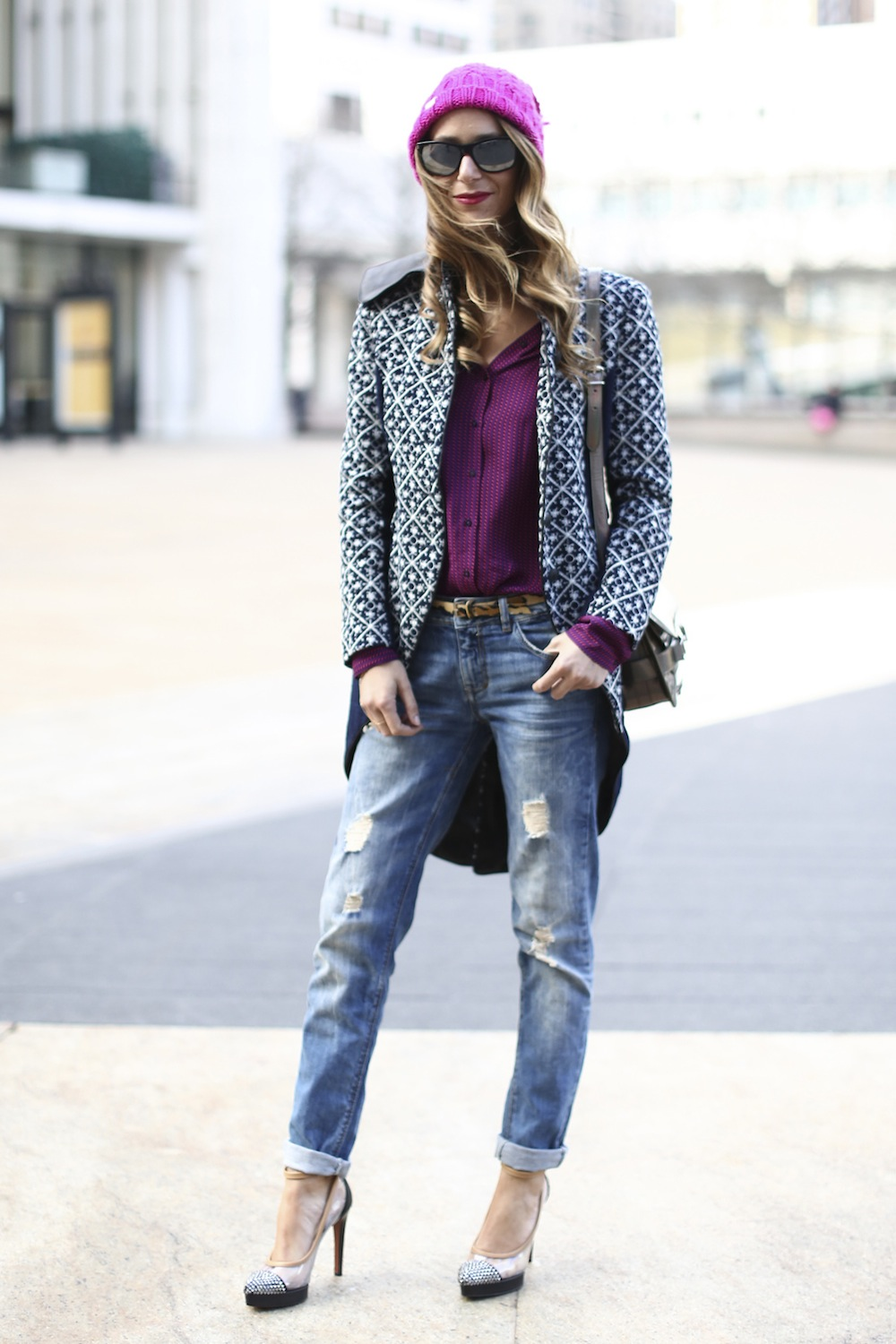 Street Style: 15 Real World Ways to Wear Ripped Jeans - theFashionSpot