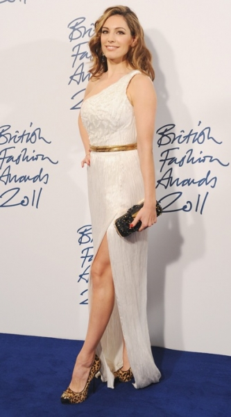Kelly Brook at the British Fashion Awards