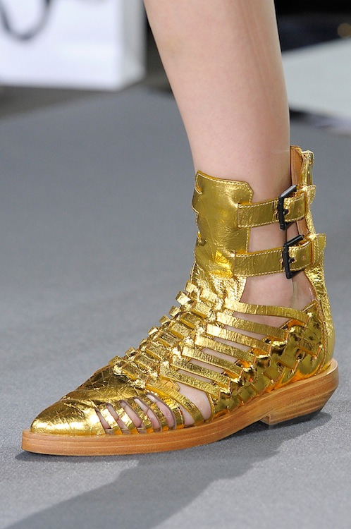 Phillip Lim's Gold Foiled Flats