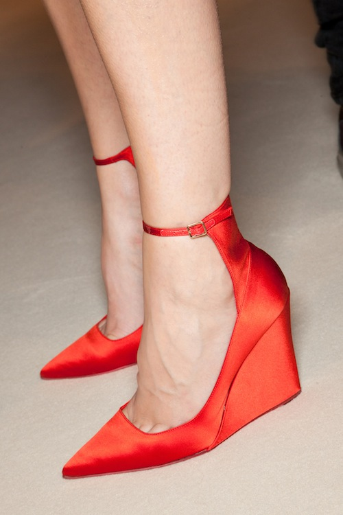 Burberry's Satin Red Wedges