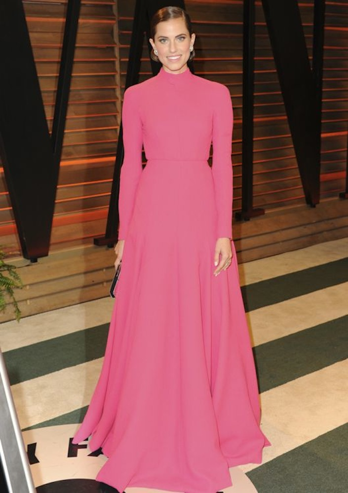 Allison Williams at the 2014 Vanity Fair Oscar Party