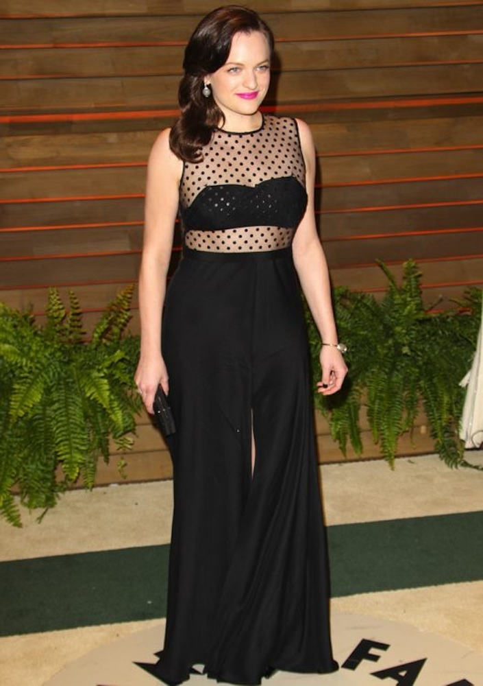 Elisabeth Moss at the 2014 Vanity Fair Oscar Party