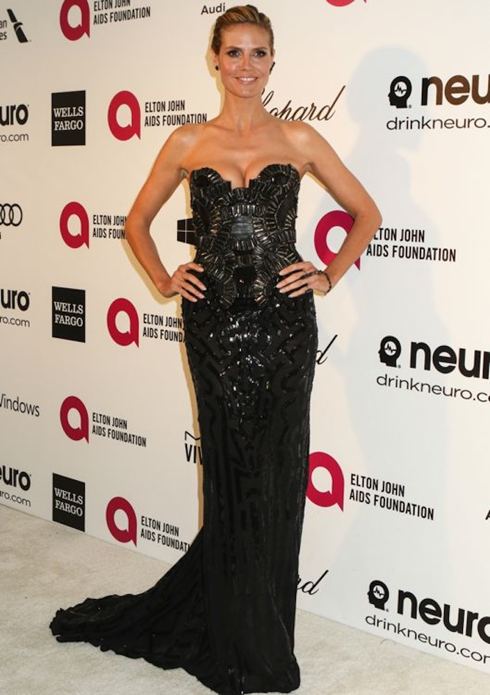 Heidi Klum at the 22nd Annual Elton John AIDS Foundation Academy Awards Viewing Party