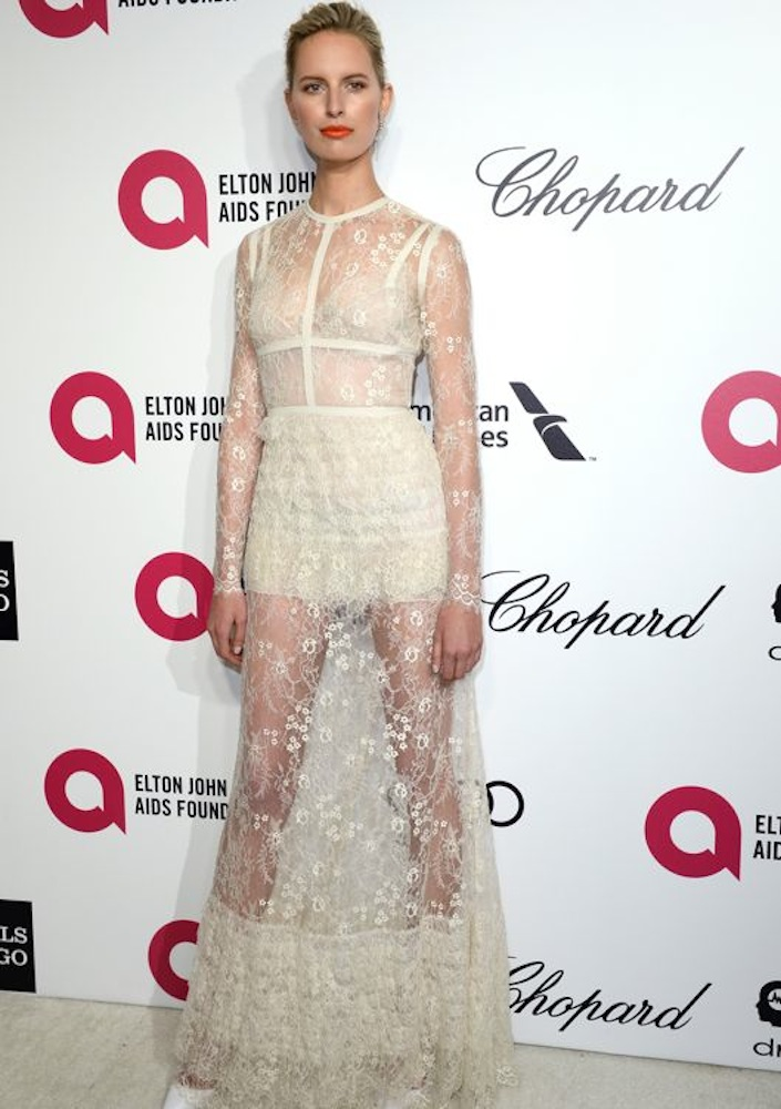 Karolina Kurkova at the 22nd Annual Elton John AIDS Foundation Academy Awards Viewing Party
