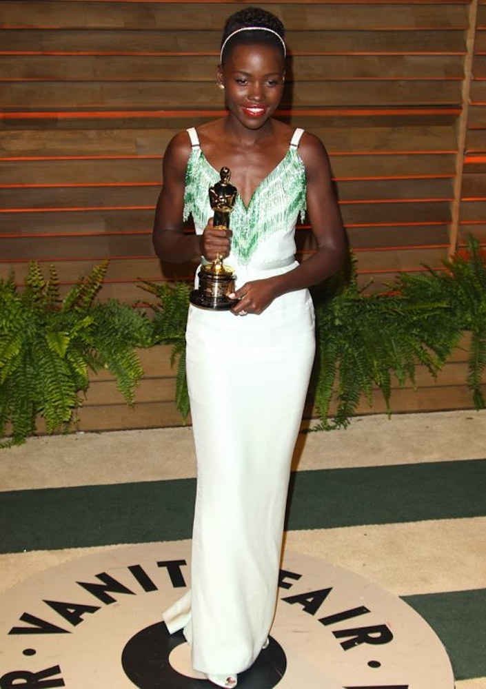 Lupita Nyong'o at the 2014 Vanity Fair Oscar Party