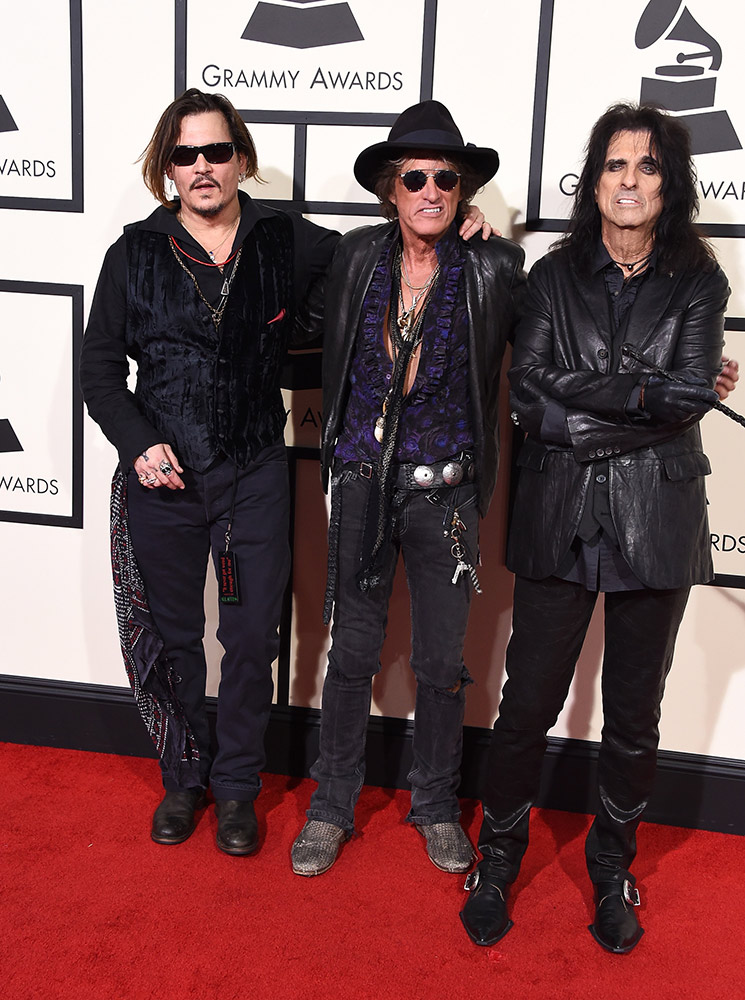 Johnny Depp, Joe Perry and Alice Cooper