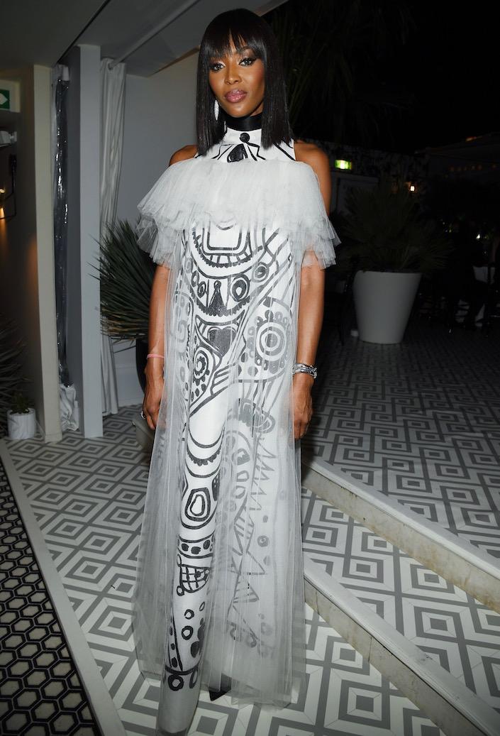 Naomi Campbell at the Dior Dinner