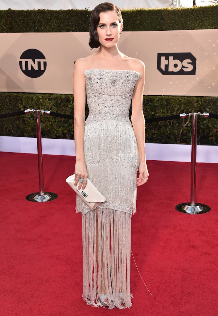 Allison Williams  All the Glitz and Glamour From the 2018 SAG Awards Red Carpet Allison Williams 2018 SAG Awards