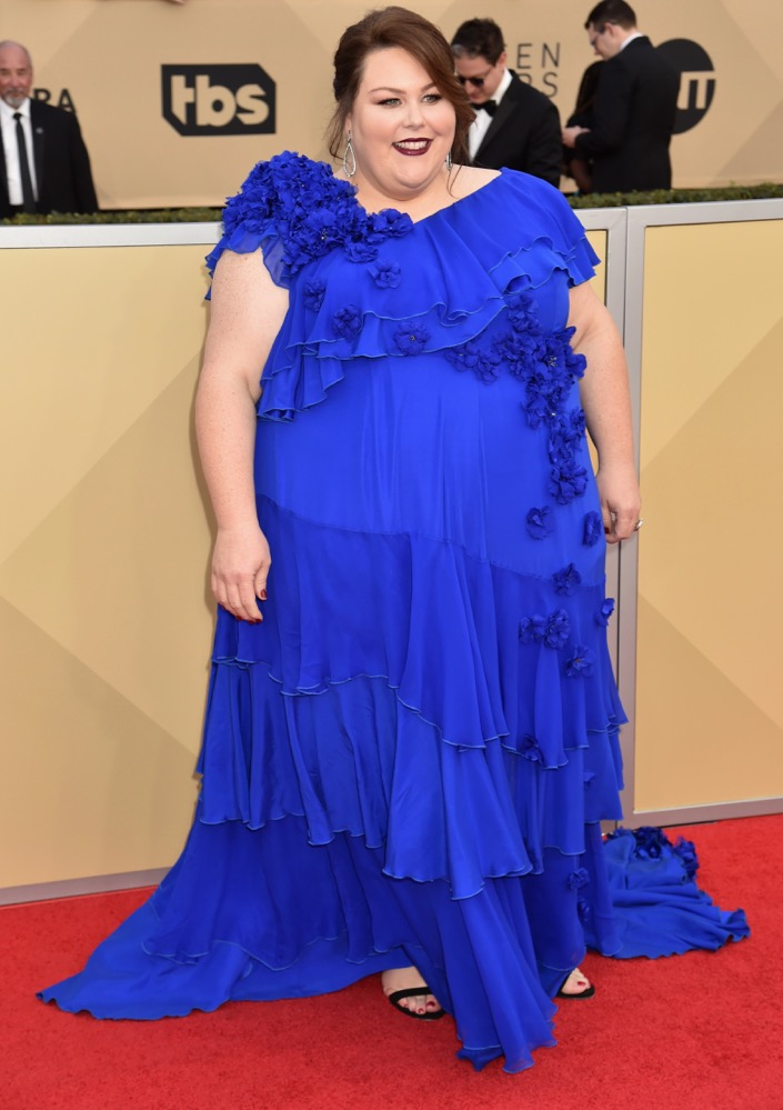 Chrissy Metz  All the Glitz and Glamour From the 2018 SAG Awards Red Carpet Chrissy Metz 2018 SAG Awards