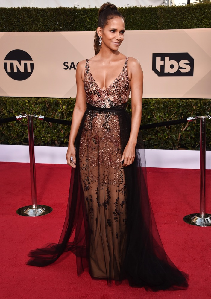 Halle Berry  All the Glitz and Glamour From the 2018 SAG Awards Red Carpet Halle Berry 2018 SAG Awards