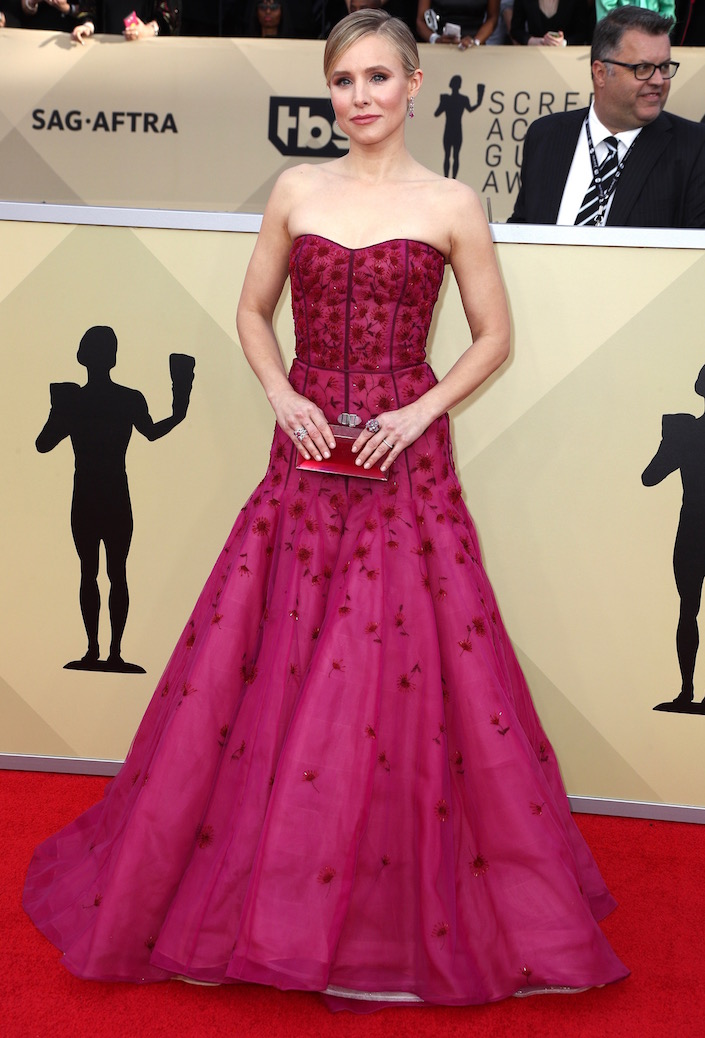 Kristen Bell  All the Glitz and Glamour From the 2018 SAG Awards Red Carpet Kristen Bell 2018 SAG Awards