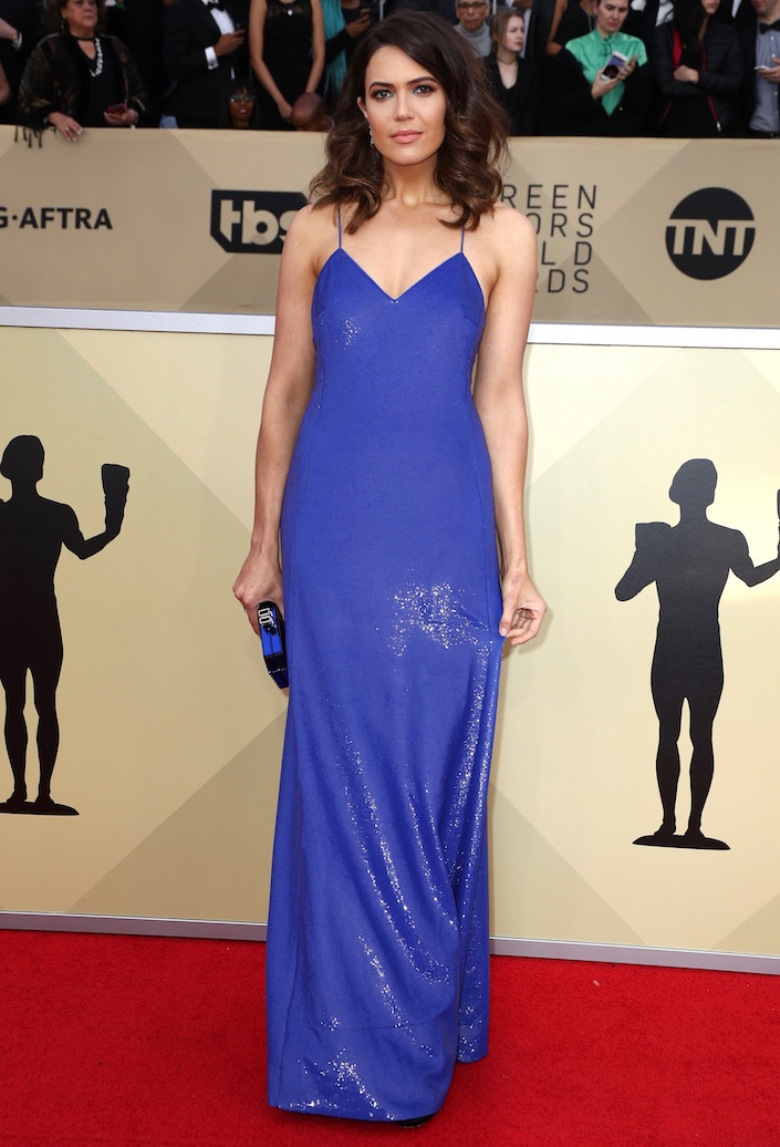 Mandy Moore  All the Glitz and Glamour From the 2018 SAG Awards Red Carpet Mandy Moore 2018 SAG Awards