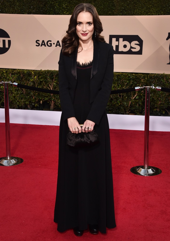 Winona Ryder  All the Glitz and Glamour From the 2018 SAG Awards Red Carpet Winona Ryder 2018 SAG Awards