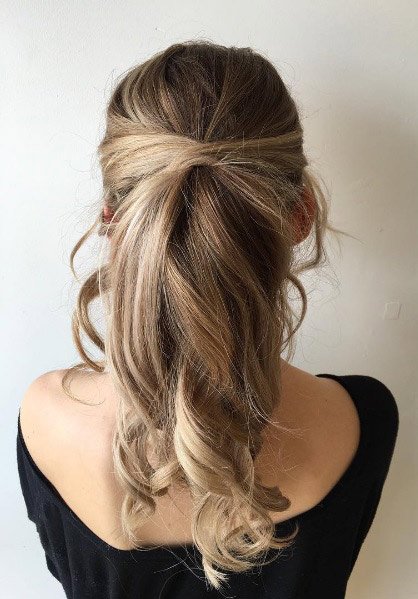 33 upgraded ponytail hairstyles that take your updo to the next soft and loose rapunzel updo pmusecretfo Choice Image
