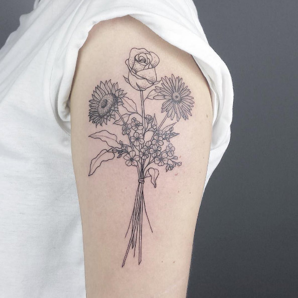 37 Flower Tattoos That Are as Beautiful as the Real Thing ...