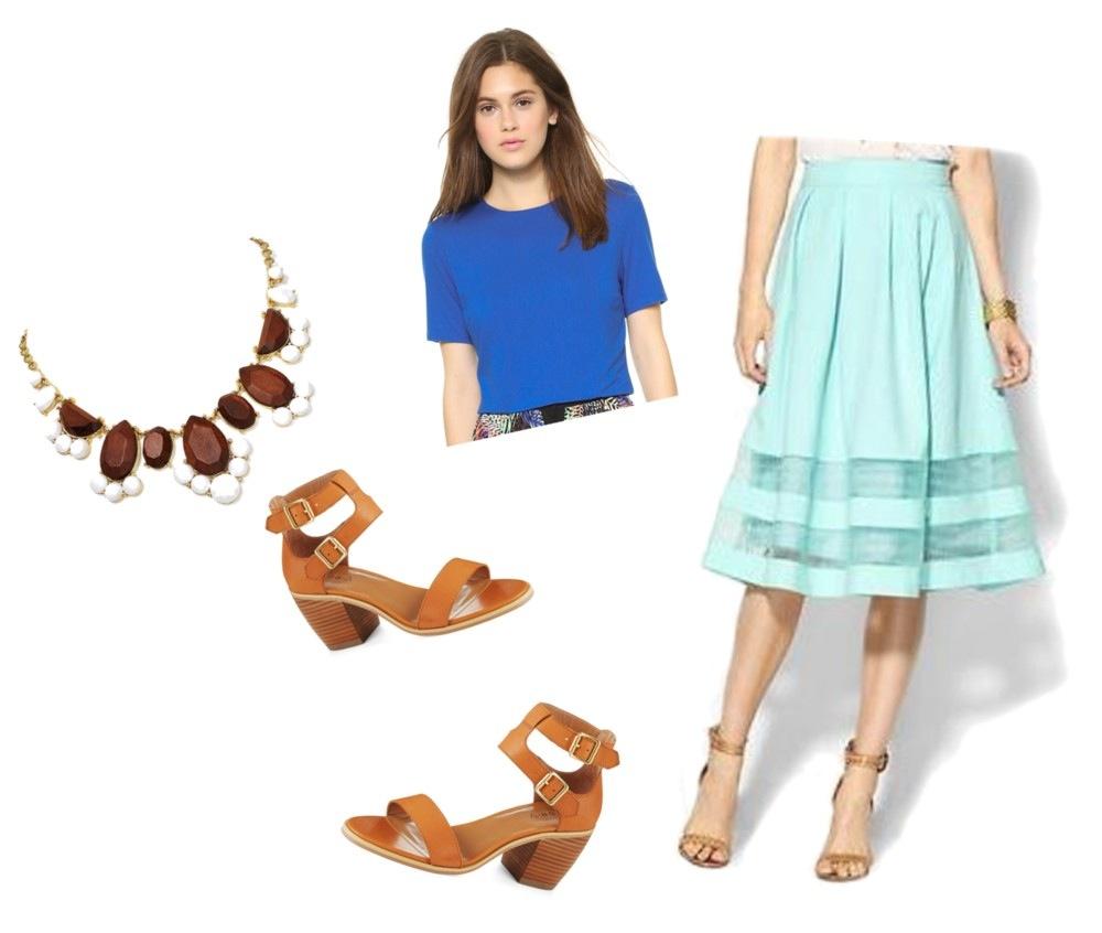 High-Waisted Midi Skirt & Crop Top