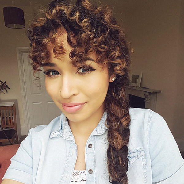 Hairstyles For Women 2015 - Hairstyle Stars |Side Fishtail Braid With Curls